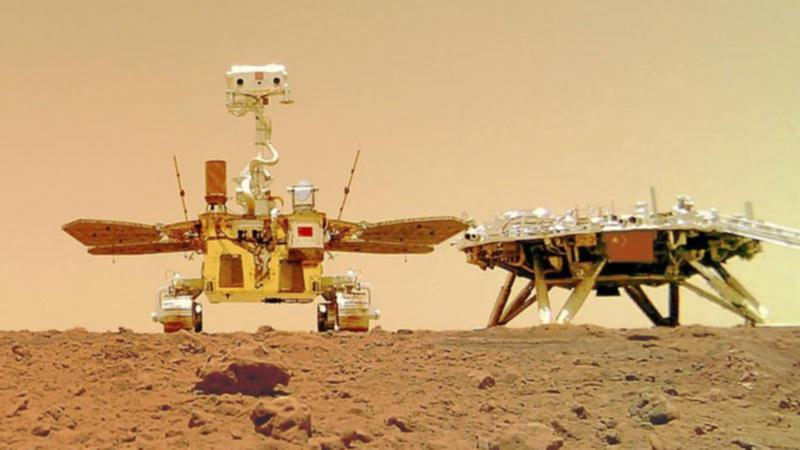 Photos show Chinese rover on Mars surface