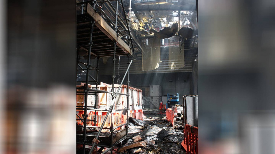 First look inside the fire-ravaged convention centre
