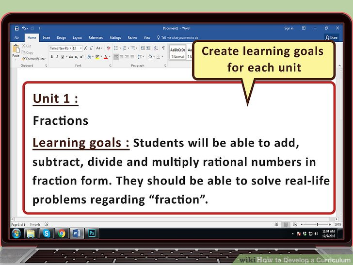 How to Develop a Curriculum