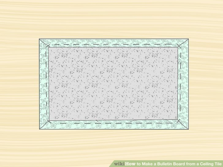 How to Make a Bulletin Board from a Ceiling Tile