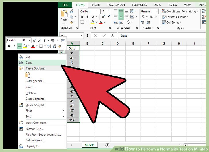 How to Perform a Normality Test on Minitab