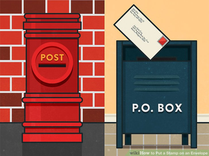 How to Put a Stamp on an Envelope