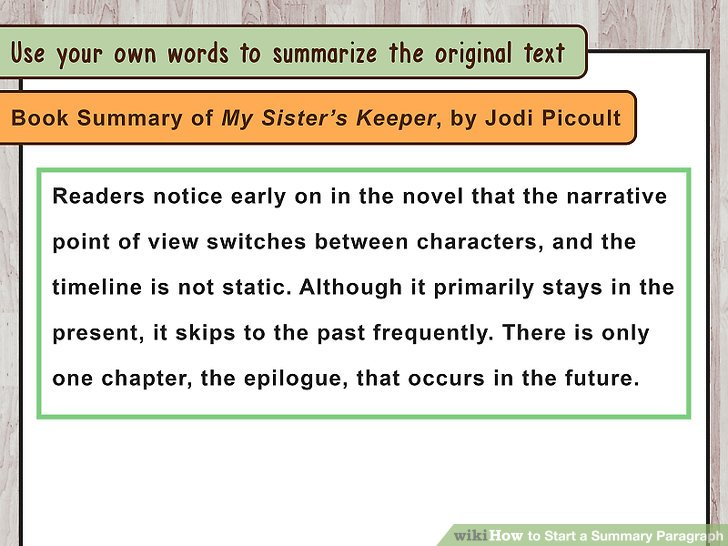 How to Start a Summary Paragraph