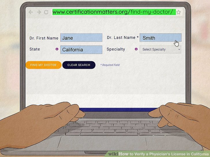 How to Verify a Physician's License in California