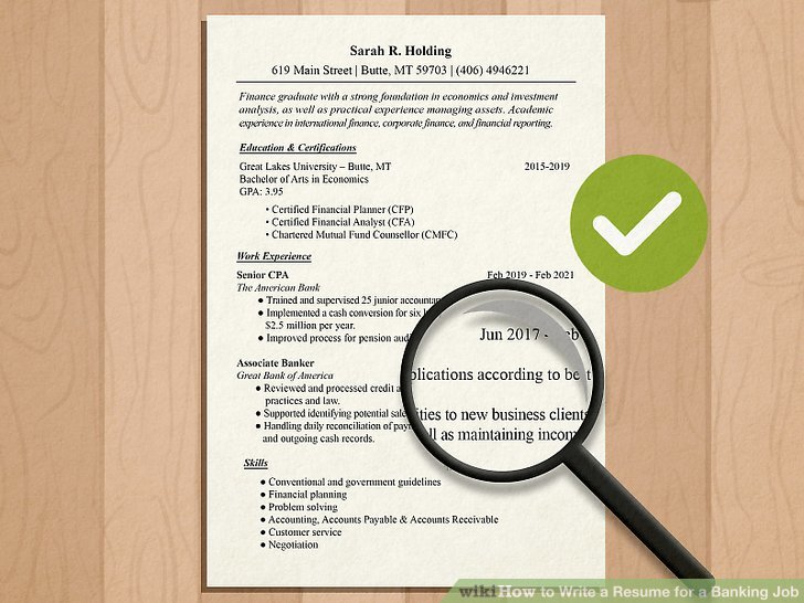 How to Write a Resume for a Banking Job