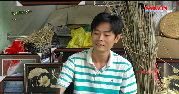 Vietnamese primary teacher, unique handicraft, rice straw, Mekong Delta of Dong Thap Province