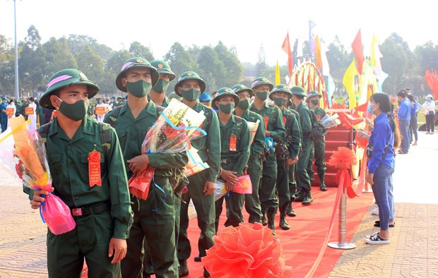 military service, ceremony to see young people off for military service, Vietnam News Agency, Related stories Ha Noi, Related stories Kon Tum, Related stories Da Nang, military service, ceremony to see young people off for military service, Vietnam News Agency, Vietnamplus