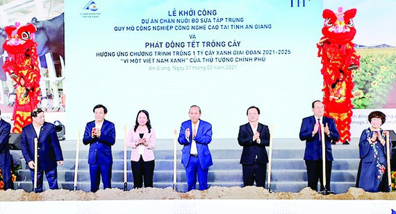 high-tech dairy farm, An Giang Province, TH Group, project of high-tech dairy cow farming and milk processing