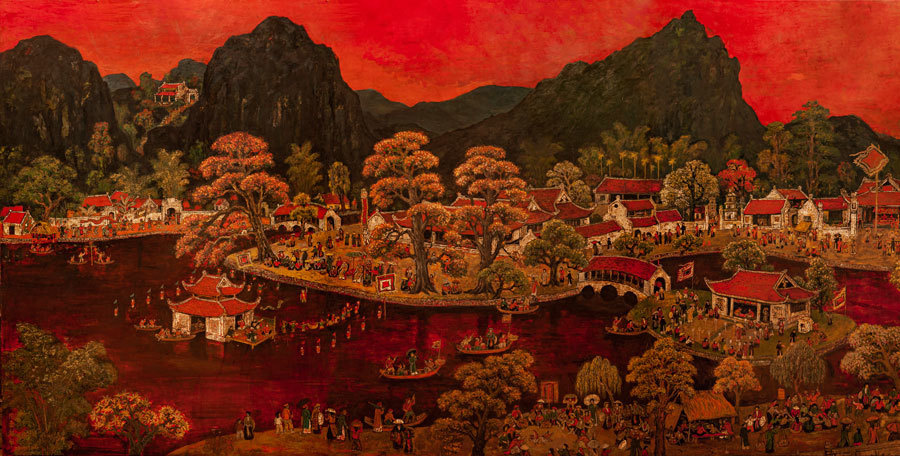"Chu Manh Chan, Exhibition in Hanoi, ""Region of Memory"" exhibition, Vietnamese beautiful landscapes in Chu Manh Chan's paintings, Vietnam National Museum of Fine Arts"