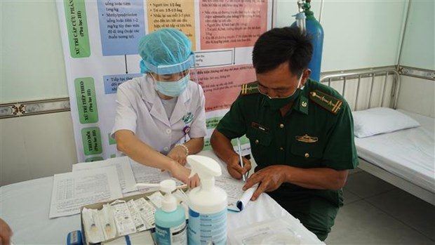 COVID-19, medical workers, soldiers, COVID-19 vaccine, Border Guard Command, Tay Ninh province, medical assistance, Vietnam News Agency, Related stories Tay Ninh, COVID-19, medical workers, soldiers, COVID-19 vaccine, Border Guard Command, Tay Ninh province, medical assistance, Vietnam News Agency, Vietnamplus