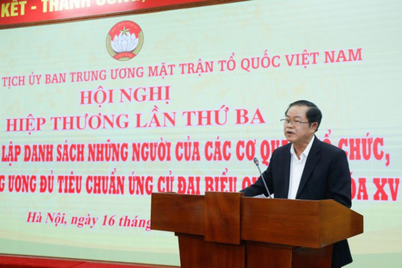 Consultative Conference, Vietnam Fatherland Front, 15th National Assembly, National Election Council, VFF Central Committee