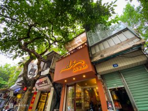 Bark paper drawings enliven Hanoi coffee shop