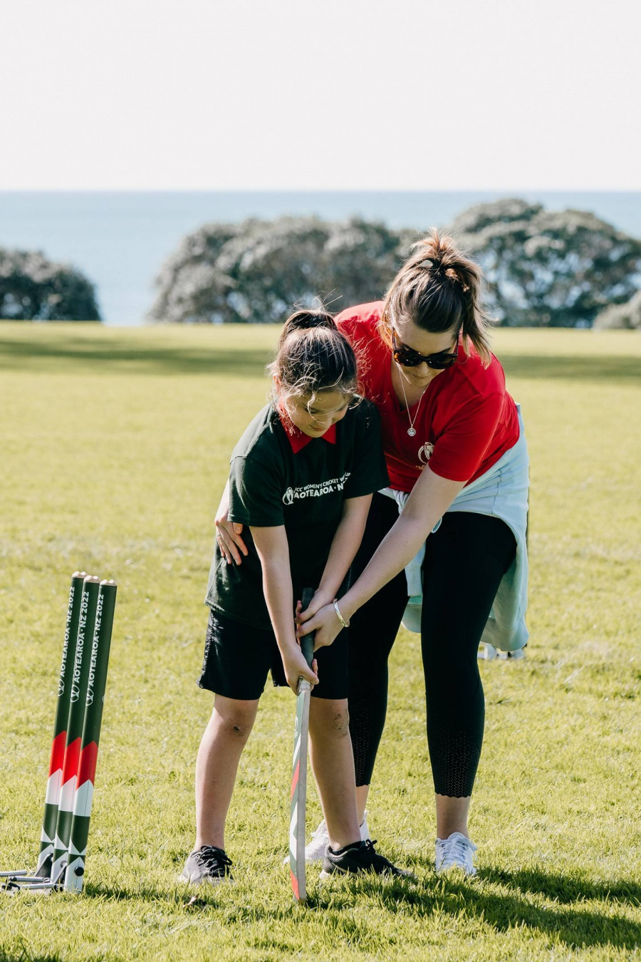 Northland kids get taste of Cricket World Cup 2022 at Treaty Grounds launch