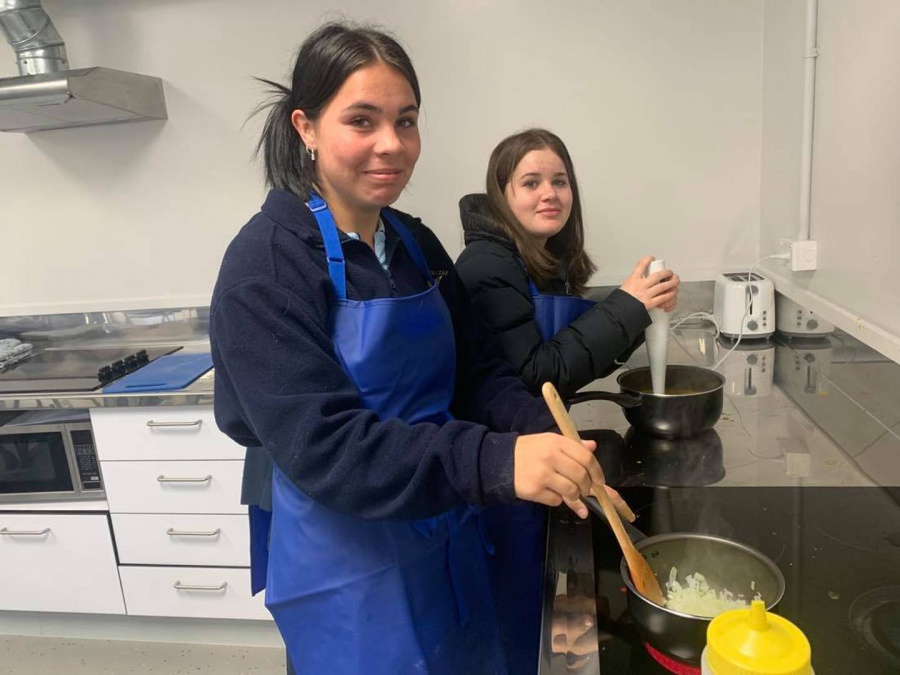 Tauhara College students' two terms of hands-on learning at Wairakei Resort kitchen