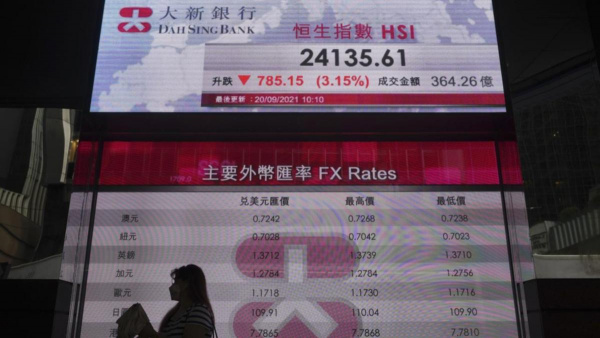 World shares at one-month low