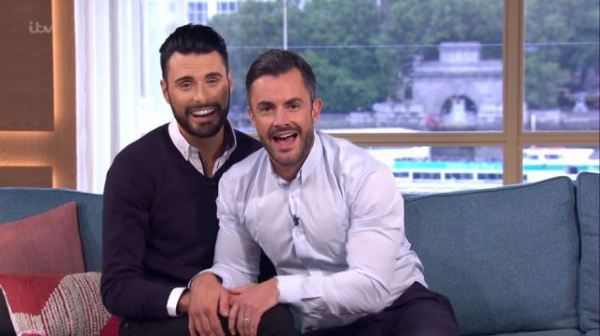 Strictly's Rylan Clark-Neal drinks with new co-host as he returns to work after 'taking break' amid marriage troubles