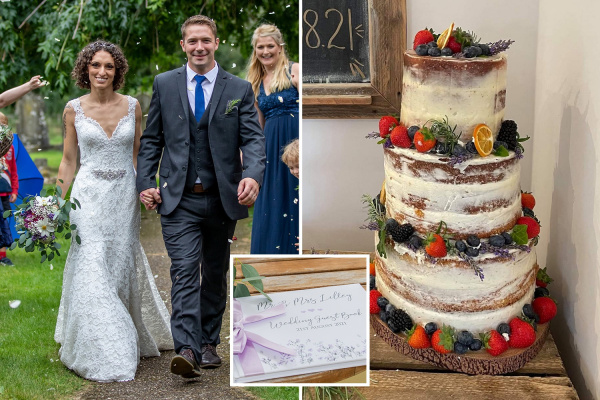 Savvy bride saves thousands on DIY wedding with eBay dress and bouquet grown in garden