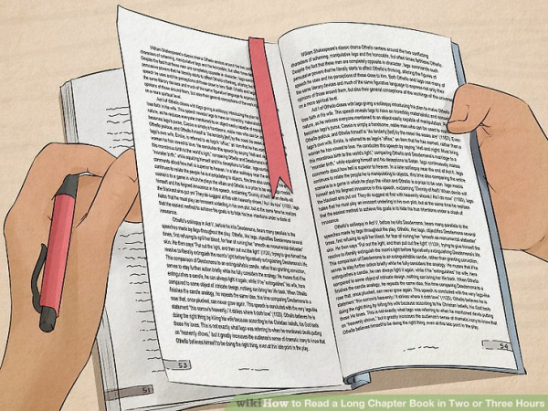 How to Read a Long Chapter Book in Two or Three Hours
