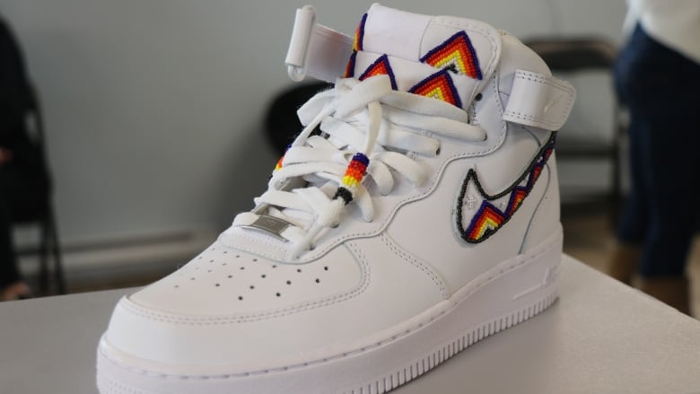 Mi'kmaw artists use Nike high-tops to bring beadwork to next generation