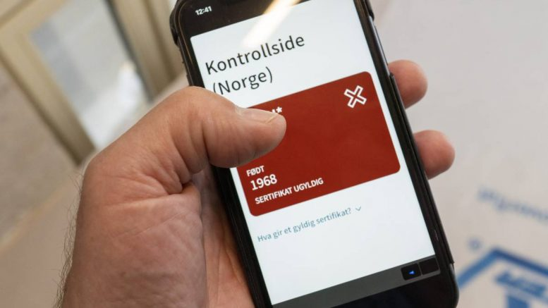 Here's how your corona certificate will be checked when your enter Norway
